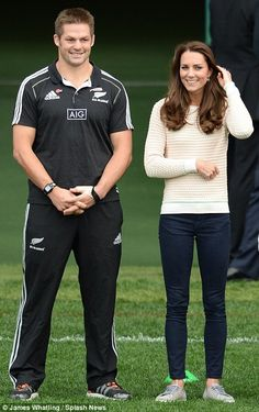 William and Kate were joined at the event by members of the All Blacks rugby team