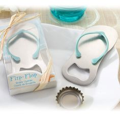 34f14c807f564 10 Flip-Flop Openers (gift boxes) - Bottle Opener - Beach theme Wedding  Favors