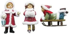 St. nicholas square ® outdoor girls 3-pc. christmas ornament set on shopstyle.com