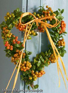 Beautiful autumn wreath by Minna Mercke Schmidt