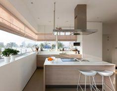 helle Küche gestalten Kochinsel Essplatz