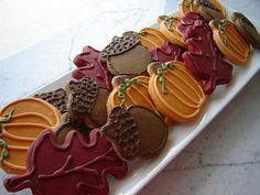 more cookies decorated for fall
