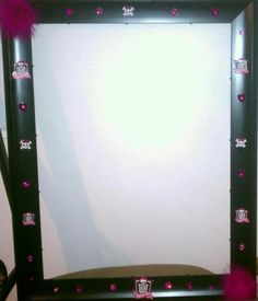 Photo frame prop for Monster High Birthday Party