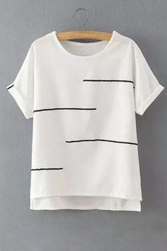 Simple Design Loose Stripe Details T-shirts -YOINS - white shirt mens, linen shirts, dark red mens shirt *sponsored https://www.pinterest.com/shirts_shirt/ https://www.pinterest.com/explore/shirts/ https://www.pinterest.com/shirts_shirt/white-shirt-for-men/ https://www.vineyardvines.com/mens-t-shirts/