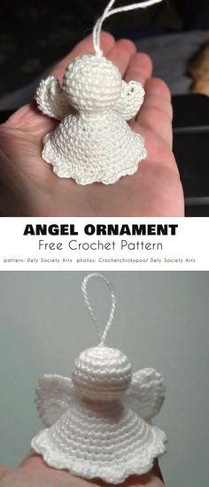 Angel Ornament Free Crochet Pattern