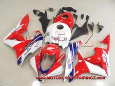 2007 2008 HONDA CBR600RR ABS Plastic Fairings Red White TT Legends FFKHD009