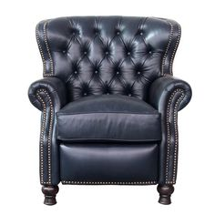 Leather recliner - Darby Home Co Coretta Leather Manual Recliner Upholstery Shoreham Blue Best Leather Sofa, Leather Chesterfield, Leather Chairs, Leather Recliner Chair, Chesterfield Chair, Barcalounger, White Dining Chairs, Couch Set, Wing Chair