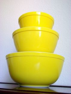 Vintage Pyrex Bright Yellow