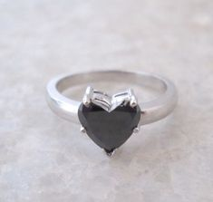Check out this item in my Etsy shop https://www.etsy.com/listing/260240870/250-carats-heart-shape-black-diamond