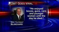 Is This The Greatest Obituary Ever Published In The History Of Death?