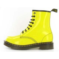 1ec77df23a5b DOC MARTENS vernis jaune a vendre taille 41 ❤ liked on Polyvore featuring  shoes