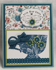 I used the Stampin' Up Tea Shoppe set to make this card.