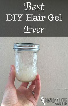 3 tablespoons aloe vera gel     1/2-1 teaspoon gelatin (the amount depends on the hold you want…I recommend starting low and adding as necessary)     optional: whatever essential oils you want for scent. I did grapefruit because I love the smell!