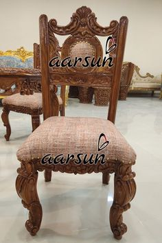 Traditional design wooden dining chair for round dining table. #Aarsun #DiningChair #DiningChair #FurnitureDesign