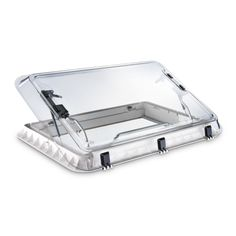 Let the daylight and fresh air into your camper van or motorhome, not just with windows, but with a roof skylight! The Dometic Heki 2 RV Rooflight is a large and sturdy tilting roof window. This manually-opened roof light comes with an integrated fly screen and blind.