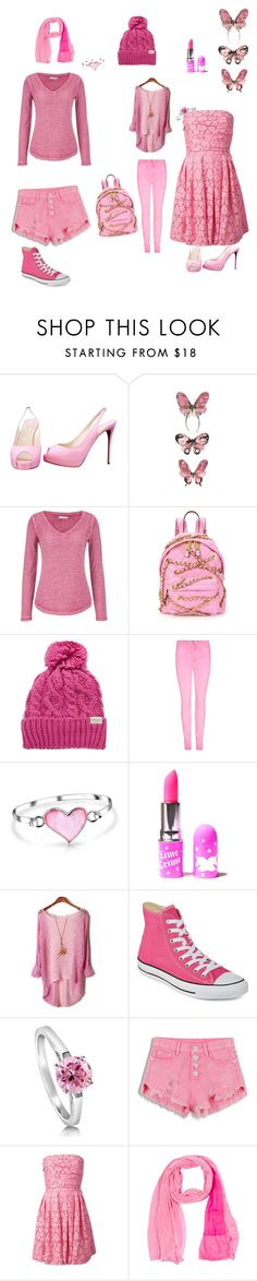 """""""Untitled #34"""" by kitty0302 ❤ liked on Polyvore featuring Christian Louboutin, maurices, Moschino, Rella, Bling Jewelry, Lime Crime, Converse, BERRICLE, Moschino Cheap & Chic and Maison Margiela"""