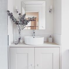 I loved designing this calming bathroom - timeless.