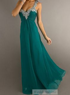 Chiffon Long Prom Dress A-line Sweetheart Dresses with Straps