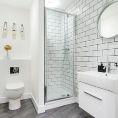 small shower room ideas The Most Useful Bathroom Shower Ideas There are almost uncountable kinds of Bathroom Design Small, Bathroom Interior Design, Modern Bathroom, Ideas For Small Bathrooms, Minimalist Bathroom, Bathroom Designs, Bathroom Suites Uk, Bedrooms Ideas For Small Rooms, Small Toilet Design