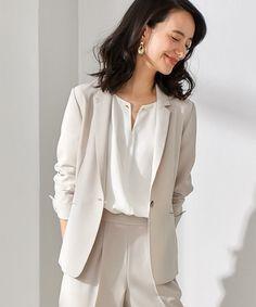 ネイビー Business Casual Attire, Business Outfits, Office Outfits, Suit Fashion, Fashion Beauty, Fashion Outfits, Office Fashion, Work Fashion, Korean Casual