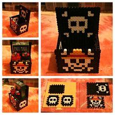 One Piece perler bead box by hardassdoll