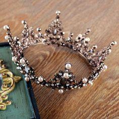 Vintage Baroque Queen Crystal Crown Wedding Bridal Headband Tiara Prom Accessory | eBay