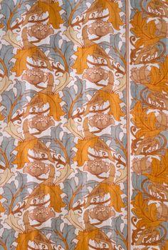 C. F. A. Voysey. 'Halcyon' textile design, 1888. (LACMA Collection).