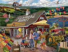 Farmers Market Art Print by Bigelow Illustrations. All prints are professionally printed, packaged, and shipped within 3 - 4 business days. Choose from multiple sizes and hundreds of frame and mat options. Framed Art, Framed Prints, Canvas Prints, Art Prints, Free Online Jigsaw Puzzles, Thing 1, Art Pages, Farmers Market, All Art