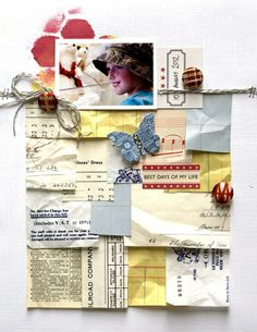 lots of layers. :) (Amanda Jones) Cute if the layers were copies of my child's artwork shrunk to size! Scrapbook Paper Crafts, Scrapbook Pages, Scrapbook Photos, Mini Albums, Project Life, Paper Tags, Scrapbook Embellishments, Travel Scrapbook, Layout Inspiration
