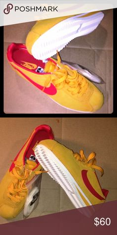 buy popular cc28c 3b8a0 Nike Cortez Rare color Cortez .. yellow red white .. brand new run