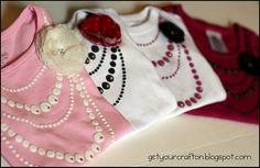 Necklace onesie
