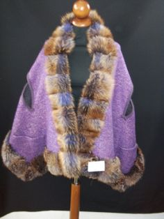 Beautiful Cape in Pure Wool   with edge of   by ItalianFursDesign, €350.00
