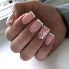 There are three kinds of fake nails which all come from the family of plastics. Acrylic nails are a liquid and powder mix. They are mixed in front of you and then they are brushed onto your nails and shaped. These nails are air dried. Bridal Nails, Wedding Nails, Matte Nails, Acrylic Nails, Fun Nails, Pretty Nails, French Polish, Nail Technician, Flower Nails