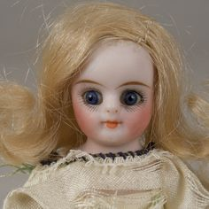 Small Half Bisque Doll - 5 Inch from beckysbackroom on Ruby Lane