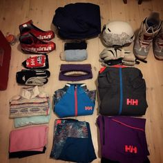 This is the way to pack. Nice and orderly with all the sports gear organized! Photo by @ nindir Lillehammer, Helly Hansen, North Face Backpack, Gears, Skiing, How To Apply, How To Plan, Nice, Sports