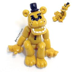 Golden Freddy from Five Nights at Freddy's Polymer by ArtzieRush