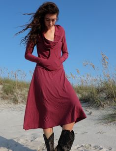 Gaia Conceptions - Gypsy Roo Wanderer Below Knee Dress, $155.00 (http://www.gaiaconceptions.com/gypsy-roo-wanderer-below-knee-dress/)