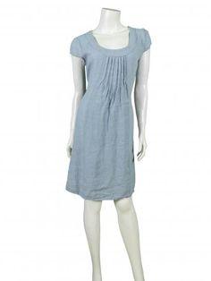 Damen Leinenkleid, hellblau