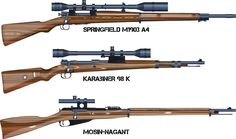 """the scope of the Springfield is inspired by the movie """"Saving Private Ryan"""" 3 Sniper Rifles of World War II Military Weapons, Weapons Guns, Guns And Ammo, Springfield 1903, Ww2 Facts, Sks Rifle, Flintlock Pistol, Home Defense, Cool Guns"""