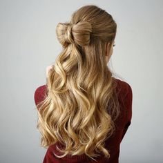 Half-up hair bow by Missy Sue