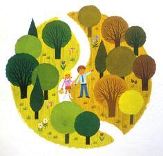 Retro children's illustration