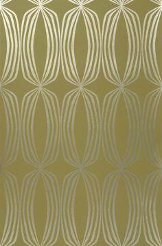 Levana | Papel de parede geométrico | Padrões de papel de parede | Papel de parede dos anos 70