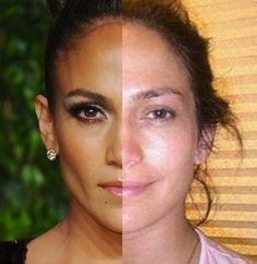 Jennifer Lopez - 29 Celebrities With and Without Makeup - The Hollywood Gossip