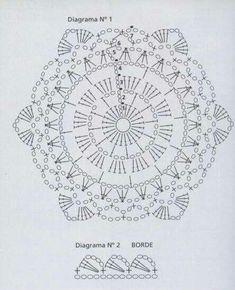 My hexagon mosaic clothes - Jingjing Flowers - Jingjing garden Crochet Mandala Pattern, Crochet Circles, Crochet Motifs, Crochet Blocks, Crochet Diagram, Crochet Chart, Crochet Squares, Easy Crochet Patterns, Crochet Granny