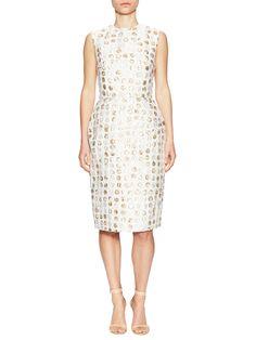 Monique Lhuillier Textured Sheath Dress