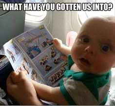 funny baby on airplane