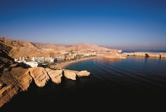 Sultanate of Oman Barr Al Jissah Shangri-La hotel Aerial view of Shangri-La Barr Al Jissah Resort and Spa