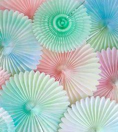 DIY: watercolor fan ~ اصنعها بنفسك: مراوح ورقية مزينة بالألوان المائية
