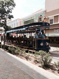 Cool trams in Oranjestad