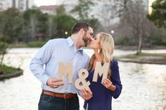 These two had the most perfect props for their engagement session <3